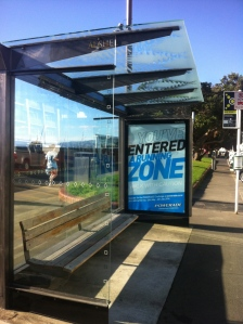 powerade bus shelter